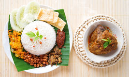 Nasi lemak hot and spicy Stock Photos