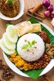 Nasi-lemak kukus Stockfoto