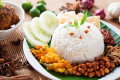 Nasi lemak kukus Royalty Free Stock Photos