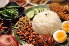 Malaysia food nasi lemak Stock Images