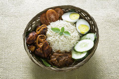 Nasi Lemak, Malaysia. Nasi Lemak is an authentic and famous food from Malaysia Royalty Free Stock Images