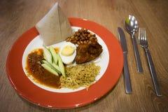 Nasi Lemak Meal Foto de archivo libre de regalías