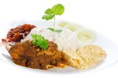 Nasi-lemak traditionelle malaysische Nahrung Stockfoto