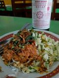 Nasi lengko & x28; lengko rice& x29; fotografia stock
