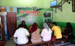 Nasi pecel från Madiun, East Java, Indonesien Fotografering för Bildbyråer