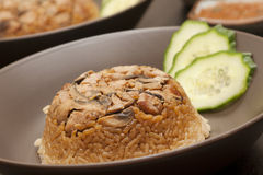 Nasi Tim Ayam Jamur Stock Photo