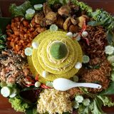 Nasi Tumpeng. Traditional rice Royalty Free Stock Images