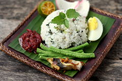 Nasi Ulam - Malay traditional herb rice. Stock Photo
