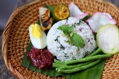 Nasi Ulam - Malay traditional herb rice. Stock Photos
