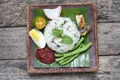Nasi Ulam - Malay traditional herb rice. Stock Photography