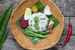 Nasi Ulam - Malay traditional herb rice. Royalty Free Stock Photography