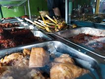 Nasi warteg on traditional restaurant Indonesian cuisine royalty free stock images