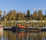 Nasijarvi II dans le port de petit bateau photos libres de droits