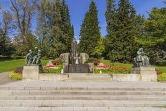 Nasinkallio fountain in Tampere. Nasikallion fountain that is Tirkkonen fountain was completed in 1913, the fountain, which is located in Tampere Hameenpuisto Royalty Free Stock Photos