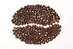 nasiona znak kawy Obrazy Stock
