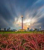 nasional Jakarta de los monumen Fotos de archivo