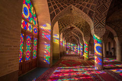 Nasir Al马尔克清真寺在设拉子,伊朗 免版税库存图片
