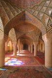 Nasir al Molk. Interior, ceiling of historical building Nasir al Molk, Nasir al-Mulk Mosque Stock Images