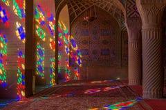 Nasir al Molk or Pink Mosque in Shiraz, Iran. stock photography