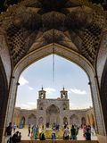 Nasir al-Mulk Mosque, also known as rose mosque in Shiraz, Iran stock image