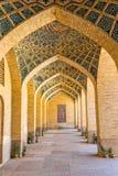 Nasir al-Mulk Mosque arcade hall vertical Stock Photography