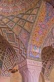 Nasir Al-Mulk Mosque ceiling detail Royalty Free Stock Photo