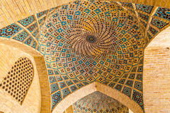 Nasir Al-Mulk Mosque ceiling dome Stock Images