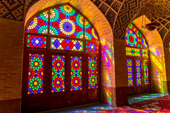 Nasir Al-Mulk Mosque colored glass Stock Photography