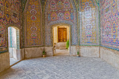 Nasir al-Mulk Mosque colorful passage Royalty Free Stock Images