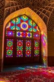 Nasir Al-Mulk Mosque-deur Royalty-vrije Stock Foto