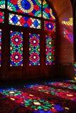 Nasir al-Mulk Mosque em Shiraz, Irã fotografia de stock royalty free