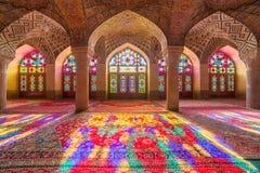 Nasir al-Mulk Mosque en Shiraz, Irán Imagenes de archivo