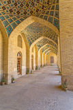 Nasir al-Mulk Mosque hall passage vertical Royalty Free Stock Photo