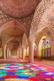 Nasir al-Mulk Mosque i Shiraz, Iran arkivfoton