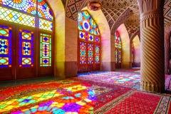 Nasir al-Mulk Mosque i Shiraz, Iran royaltyfri foto