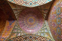 Nasir al-Mulk Mosque, la moschea rosa immagini stock libere da diritti