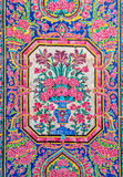 Nasir Al-Mulk Mosque painted tiles Stock Image