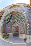 Nasir al-Mulk Mosque passage fisheye Royalty Free Stock Images