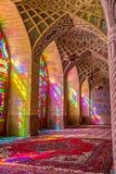 Nasir Al-Mulk Mosque praying room vertical Stock Image
