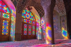 Nasir al-Mulk Mosque in Shiraz, Iran Stock Foto