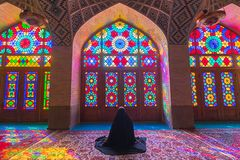 Nasir al-Mulk Mosque in Shiraz, Iran Royalty-vrije Stock Foto's