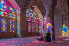 Nasir al-Mulk Mosque in Shiraz, Iran royalty free stock images