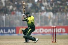 Nasir Jamshed. Pakistani Player Nasir Jamshed plays a shot against Zimbabwe in the fifth ODI in Sheikupura Stock Photos