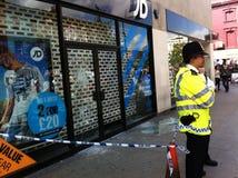 Nasleep van de onrust 8 Augustus 2011 van Londen Stock Afbeeldingen