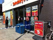 Nasleep van de onrust 8 Augustus 2011 van Londen Royalty-vrije Stock Afbeeldingen
