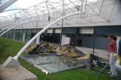 Nasleep van de tornado Royalty-vrije Stock Foto's