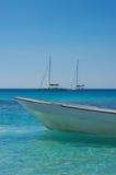 Naso bianco della barca Fotografia Stock