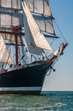 Naso del ` s della barca a vela nel mare Fotografia Stock Libera da Diritti
