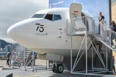 Naso di Boeing 737 come componente di nuova linea aerea di Zealaand dell'aria s 75t immagini stock