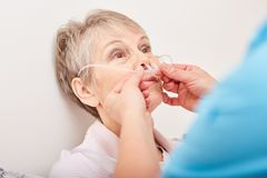 Nasogastric probe treatment therapy stock photography
